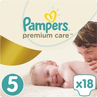 Подгузники Pampers (Памперсы) Premium Care Junior 5 (11-18 кг), 18 шт