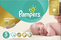 Подгузники Pampers (Памперсы) Premium Care Junior 5 (11-18 кг), 88 шт