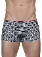 Трусы Bruno Banani (Бруно Банани) Monogram, Short Black-white р.6 ( L ) муж.