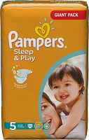 Подгузники Pampers (Памперс) Sleep & Play Junior (11-18 кг), 74 шт.