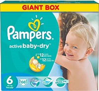 Подгузники Pampers Active Baby Extra Large р.6 (+15 кг)  66 шт