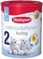 Смесь Semper Baby ND 2 Nutradefense 2, с 6 мес. 400 гр.